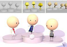 Sports2D3D Podium Ligue1 Soccer 3D Cartoon
