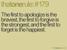 I've apologized, forgiven for it not being accepted, and forgotten and moved on! Feels amazing!!