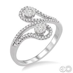 3/8 Ctw Lovebright Round Cut Diamond Ring in 14K White Gold