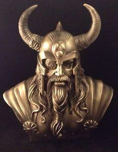 ODIN-BUST-Vikings-CELTIC-Sculpture-RESIN-Birthday-FANTASY-Magic