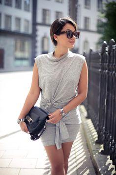 Sara Che - The Haute Pursuit  THPSHOP cuff, wrap skirt, silver ting set, ear cuffs, proenza shouler ps11 bag, celine sunglasses  http://www.sarache.se/the-haute-pursuit/
