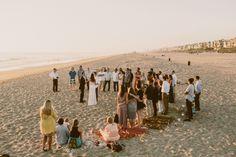 casual cozy beach wedding |  www.GinaAndRyan.com
