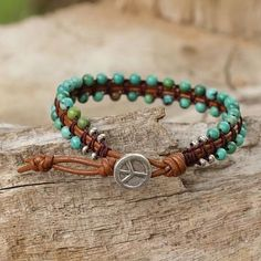 Diy Leather Bracelet, Bracelet Cuir, Leather Jewelry, Wire Jewelry, Boho Jewelry, Beaded Jewelry, Jewelry Bracelets, Handmade Jewelry, Jewelery