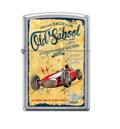 Zippo Authentic OLD SCHOOL ROAD RACE CAR Fourth Gear Poster Lighter----------- in Collectables, Tobacciana & Smoking Supplies, Lighters | eBay!