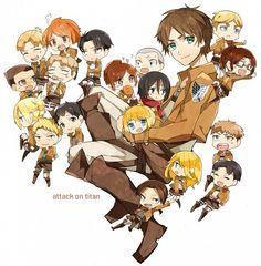 : Anime, Shingeki no Kyojin, Christa Renz, Rivaille, Eren Jaeger Mikasa, Armin, Levi X Eren, Attack On Titan Funny, Attack On Titan Anime, Anime Chibi, Manga Anime, Anime Art, Anime Meme