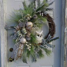 Christmas Wreath Snow Owl Christmas WreathElegant
