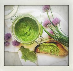 Salsa verde – the swedish version with dill, parsley, chives and anchovy. Salsa Verde, Parsley, Avocado Toast, I Foods, Pesto, Risotto, Breakfast, Morning Coffee, Morning Breakfast