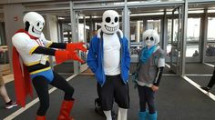 Undertale cosplay - Papyrus, Sans, and Underswap Sans