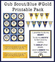 Blue  Gold Printable Pack -