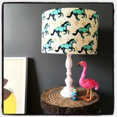"""""""New wild horses lampshade is going online TONIGHT! Very excited!  #wild #horses #lampshade"""""""