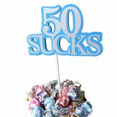 50th Birthday Lollipop Bouquet or Cake by CarasScrapNStampArt, $5.00