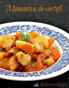 vegane (de post) Archives - Page 17 of 23 - Lecturi si Arome Romanian Food, Romanian Recipes, Vegetarian Recipes, Cooking Recipes, Bon Appetit, Cantaloupe, Sweet Potato, Food And Drink, Potatoes