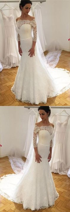 Lace Wedding Dresses #LaceWeddingDresses, Wedding Dresses 2018 #WeddingDresses2018, Cheap Wedding Dresses #CheapWeddingDresses