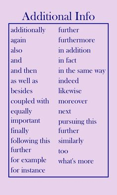 Transition words: showing example | Just Me and My Writing ...