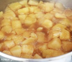 stove top apple sauce- could use pumpkin pie spice instead of listed ones, and honey in place of sugar