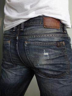 Buffalo David Bitton Men Jeans Driven Distressed Dark Wash Straight 32 x 32 #BuffaloJeans #ClassicStraightLeg