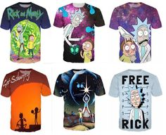 Newest Fashion Women/Mens Rick and Morty Funny 3D Print Casual T-Shirt S-5XL   #Unbranded #GraphicTee