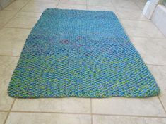 Cotton Bath Mat Rug Knitting Pattern