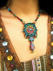 ~ crochet jewelry with handmade beads ~ | by AowDusdee