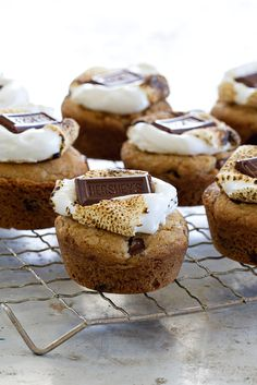 S'mores Cookie Cups are a delicious bite of s'mores all made in a muffin tin. Delightful!