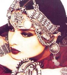 Indian bollywood beauty Rekha