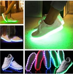 Real deals for you: Women Mens Colorful Glowing LED Light Luminous Sho...