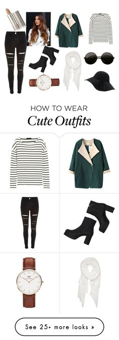 """cute outfit for cold"" by laurahonner on Polyvore featuring J.Crew, Chicnova Fashion, Monki, River Island, Calvin Klein and Daniel Wellington"