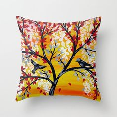 yellow cushion cases, yellow cushion cover, covers for cushions, yellow pillow case, yellow pillow cases, pillows with red and yellow, bird