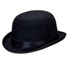 Chapeau melon noir velours adulte                                                                                                                                                                                 Plus