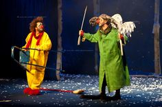 Venice, February 15th 2012: Acclaimed Clown Theatre company Slava Snowshow performs in Venice at the Teatro Goldoni.