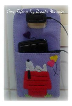 Porta cellulare con Snoopy