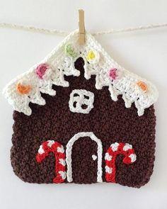 Picture of Christmas Dishcloths Set Crochet Pattern