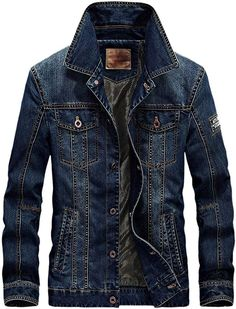 [Affiliate] Vogstyle Men's Winter Distressed Denim Trucker Jacket Slim Fit Casual Pockets Button Down Jacket Style 2 Dark Blue XS Denim Jacket Men, Denim Jeans Men, Denim Jackets, Men Shorts, Leather Jackets, Outfit Man, Men's Coats And Jackets, Lightweight Jacket, Fashion Clothes