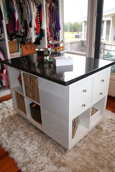 The IKEA Kallax series Storage furniture is an important element of any home. They provide purchase and assist you to hold track. Elegant and delightfully simple the rack Kallax from Ikea , for exampl Closet Ikea, Room Closet, Master Closet, Closet Hacks, Master Suite, Easy Diy Projects, Home Projects, Ikea Table Hack, Lack Table Hack
