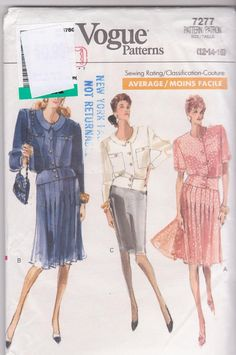 1980s vintage sewing pattern for 2 piece dress by beththebooklady, $6.99