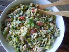 Chipotle Chicken Taco Salad... Weight Watchers Points Plus = 6 for Approx 2 1/2 cups (makes 4 servings)