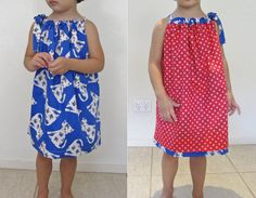 Girls Reversible Dress PDF Sewing pattern- Beginners-Childrens Clothing made using a Sewing Machine Only- Sewing tutorial - easy PDF pattern
