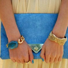 Accessories-love the gold and blue together...UCLA!
