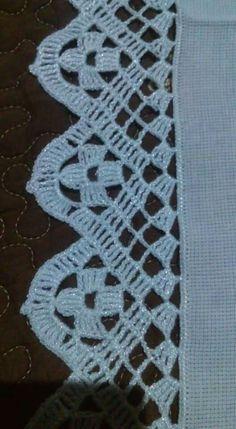 Crochet Boarders, Crochet Lace Edging, Crochet Doilies, Crochet Patterns, Filet Crochet, Crochet Basics, Foot Tattoos, Chrochet, Diy Fashion