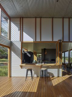 Located in South Australia, Waitpinga House is a family retreat designed by Mountford Williamson Architecture. Clad Home, Coastal House Plans, Shed Homes, Shed Plans, Residential Architecture, Sustainable Architecture, Decoration, Home Interior Design, Oahu