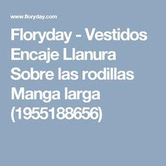 Floryday - Vestidos Encaje Llanura Sobre las rodillas Manga larga (1955188656)