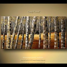 Modern Art Poster on Photographic Paper  Deep by OsnatFineArt, $168.00