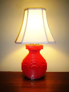 LEGO Brick Table Lamp (via Etsy)  You should see if Liam could build one for his room.