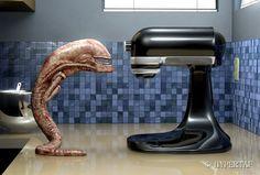 by Hypertaf-Tafkah on DeviantArt Giger Alien, Hr Giger, Aliens Funny, Aliens Movie, Arte Horror, Horror Art, Arte Alien, Predator Alien, Gundam Wallpapers