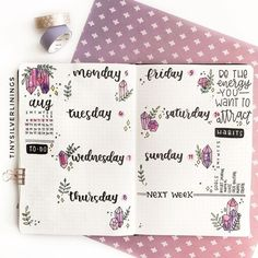 20 Bullet Journal Weekly Spread Ideas You'll Want To Try - Its Claudia G <br> If you need bullet journal inspiration, here are the best bullet journal weekly spreads you can copy to stay organized. Be more productive with your bujo! Bullet Journal Weekly Layout, February Bullet Journal, Bullet Journal Banner, Bullet Journal Monthly Spread, Bullet Journal 2020, Bullet Journal Aesthetic, Bullet Journal Notebook, Bullet Journal Themes, Bullet Journal Inspiration