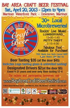Pacheco, CA The Bay Area Craft Beer Festival in downtown Martinez began in 2010 to highlight the art and flavor of craft beer in Martinez and surrounding communities. Produced by Main Street Martinez, the fes… Click flyer for more >>