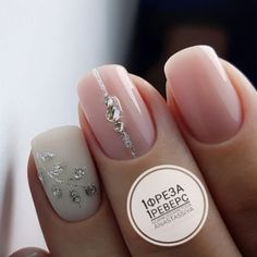 Nail Art Designs In Every Color And Style – Your Beautiful Nails Love Nails, Pretty Nails, My Nails, Glitter Manicure, Manicure E Pedicure, White Nails, Pink Nails, White Glitter, Nagel Hacks