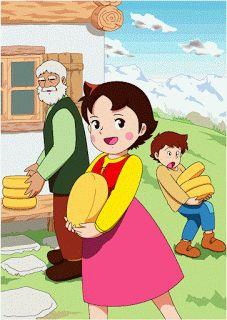 Heidi, the little girl from the Swiss Alps - - Mejores caricaturas de mi niñez - Heidi Cartoon, Cartoon Wall, Cartoon Tv, Cartoon Characters, Old Cartoons, Classic Cartoons, Claudia Rodriguez, Disney Princess Fashion, Old Anime