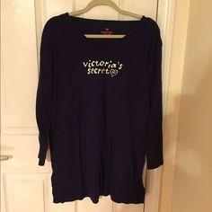 Victorias Secret Sleep Shirt Long Sleeve Cotton Sleep shirt; new, never worn Victoria's Secret Intimates & Sleepwear Pajamas
