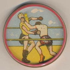 Doppelspiel, Katze-Boxer, DDR, Plaste, 60mm, b